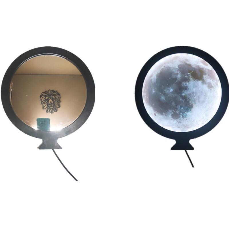 Макияж зеркало с легкой луной настенный ламп гостиной вход вход ванная комната декоративное зеркало настенные наклейки наклейки дома декор