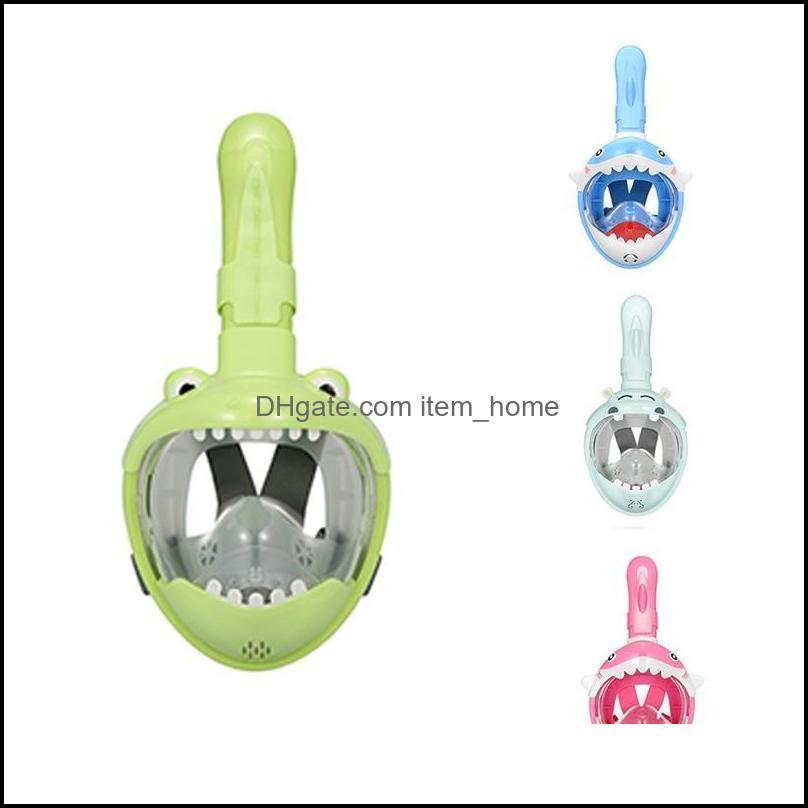 Scuba Snorkeling Water Sports & Outdoorsscuba Mask For Kids Fl Face Hd Anti Fog Anti-Leak Swimming Diving Masks Underwater Snorkel Drop Deli