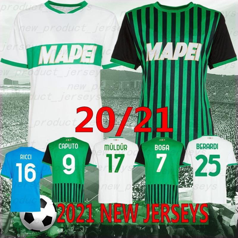 Thai 20/21 Sassuolo Calcio Sassber Trackss 2021 Sassuolo Home Lirola князь Футбол Рубашка Матрис Сернола в Англии Футбольная форма