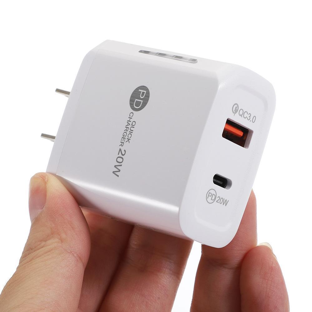 2Port 20W USB C 벽 충전기 LED QC3.0 휴대 전화 빠른 충전 Type-C PD 여행 어댑터 모든 휴대 전화에 대 한
