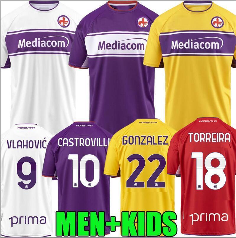 21 22 Fiorentina Soccer Jerseys Home Third 4th 2021 2022 Mailleot de Foot Duncan Milenkovic Callejón Vlahovic Castrovilli Gonzalez Football Shirts Top Thailand