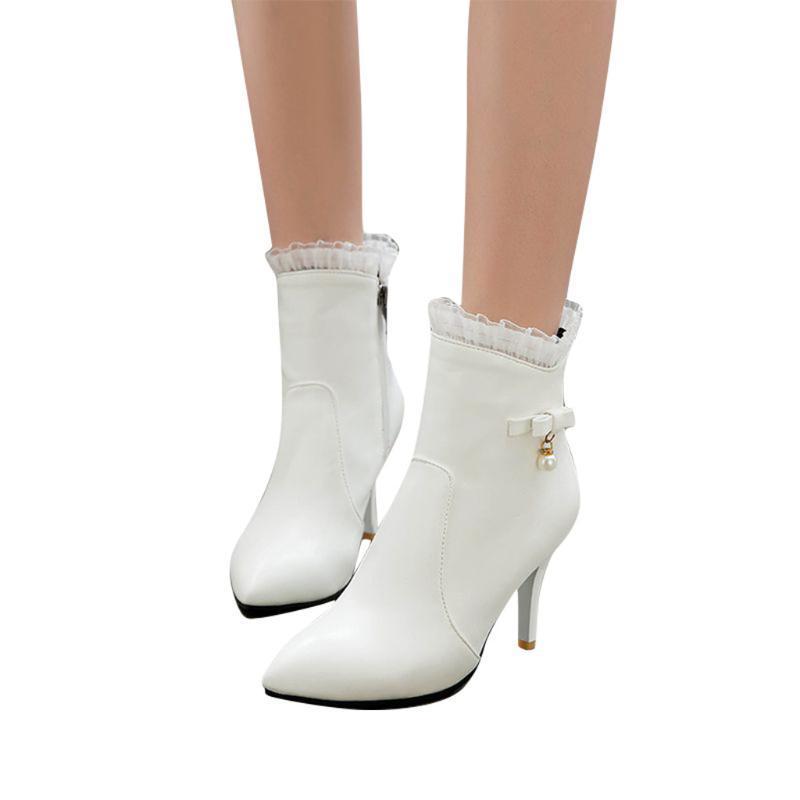 Bottes Femme Femme Femme Chaussures à talons imperméables Plate-forme imperméable Bottillons élevés