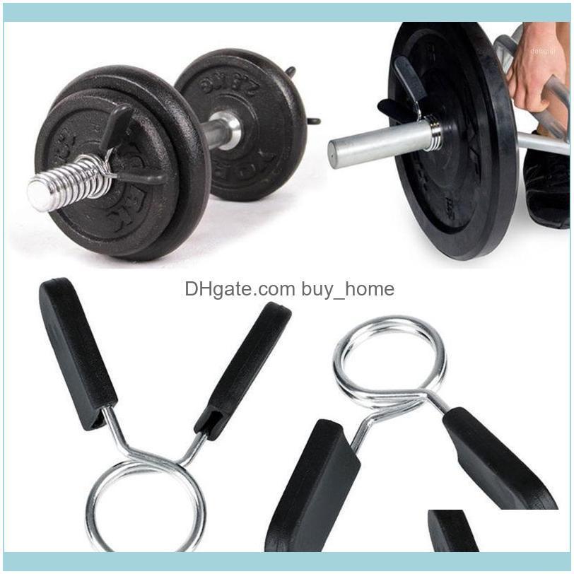 Barbells equipos fitness suministros deportes al aire librebarbelos estándar de 25 mm de resorte clips de collar de resorte para barra de peso pesas gimnasio barras de gimnasio