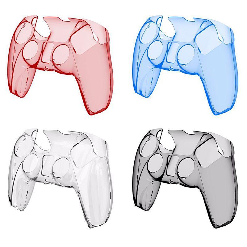 새로운 PS5 컨트롤러 플라스틱 크리스탈 쉘 PS5 핸들 무선 게임 컨트롤러 액세서리에 대 한 투명 보호 스킨 케이스 DHL