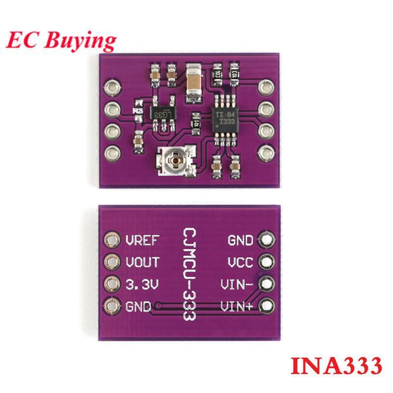 Circuitos integrados INA333 Módulo OP AMP Micro Micro Sinal Multifuncional Três Precisão Instrumentação Placa