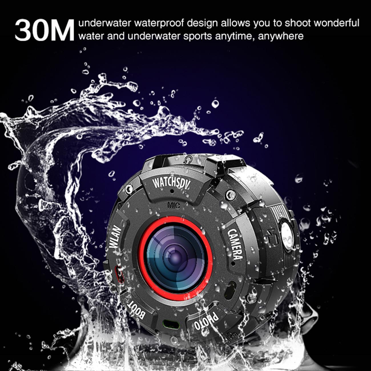 Smart Watch Mini Sport Acción Cámara HD1080P WiFi Impermeable 30M DV 5 PCS Lentes de gran angular Versión Noche Disparo SmartWatch CAM Digital Video Recorder