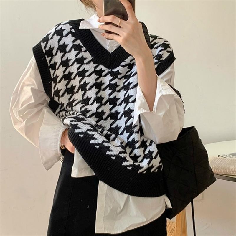 Gilet da donna GAME DONNA DONNA GAME NUOVA AUTUNNO AUTUNNO sciolto coreano maglione da esterno gilet LJ201017