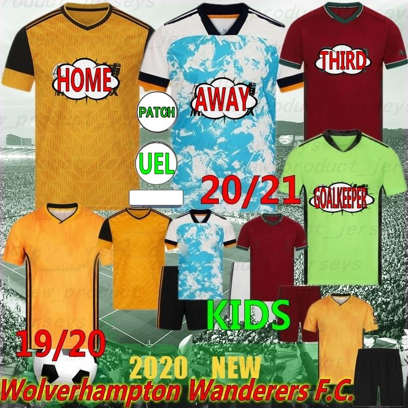 Thai 20/21 Wolves 9 Raúl J.Moutinho Raul Neves New Soccer Jersey Wanders Camicia da calcio Set Diogo J. Uniformi uomo KITS KITS 19 20 TOP