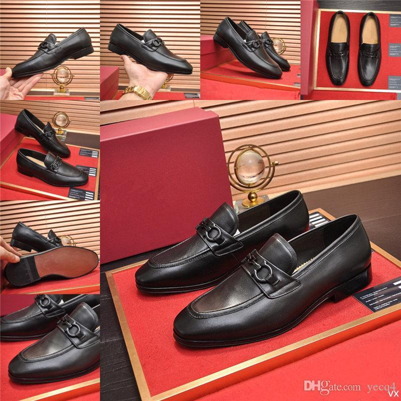 Q4 남자 가죽 신발 새로운 흑호 신발 남성 뾰족한 발가락 옥스포드 가을 레이스 업 공식 신발 럭셔리 수제 웨딩 비즈니스 신발 11