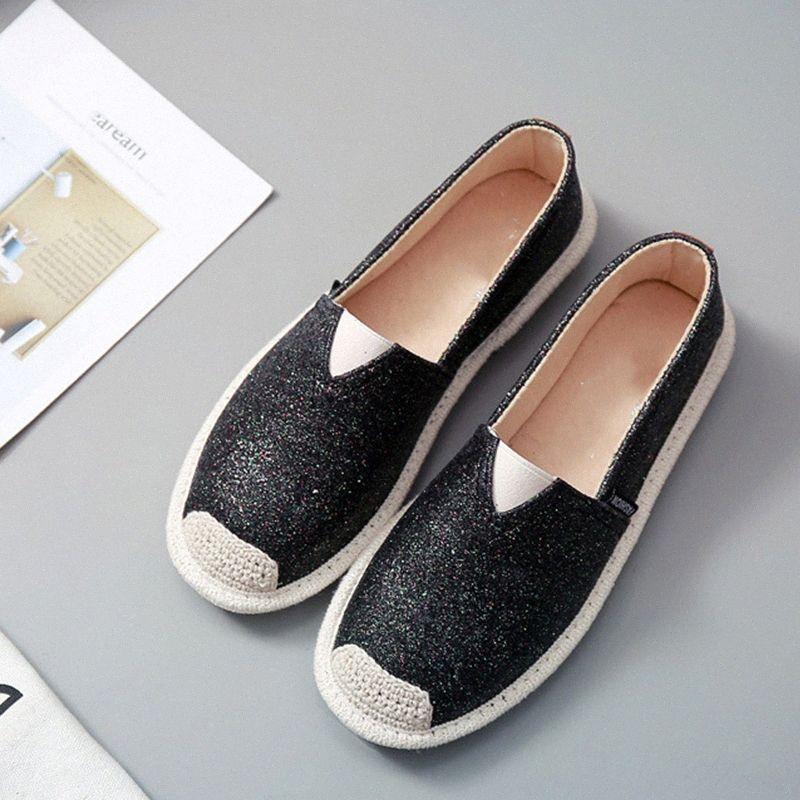 Kadın Bling Flats Loafer'lar Elastik Bant Rahat Bayanlar 2020 Bayan Sneakers Kadın Balıkçı Rahat Kadın Işık Ayakkabı Skechers Ayakkabı S0OL #