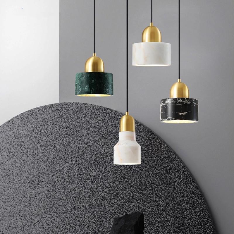 Nórdico quarto lâmpada de cabeceira lâmpada luz luxo criativo mármore simples sala de jantar personalidade mesa de barra de mesa único cabeça pequena candelabro