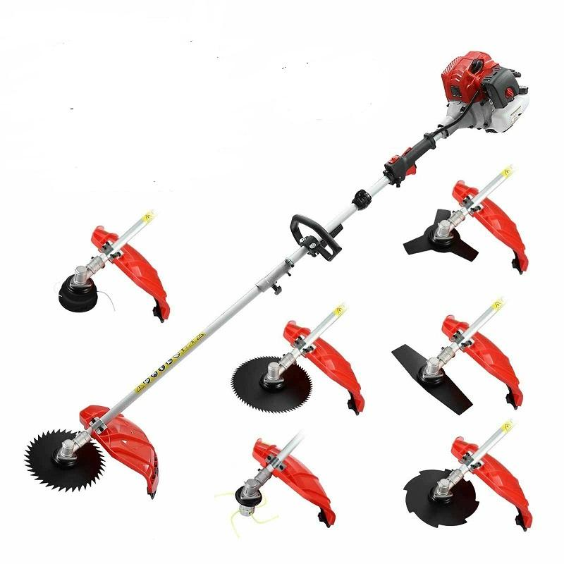 New Model Garden Trimmers 52CC 2 stroke,Air Cooling Brush Cutter,Grass Cutting Tool,Whipper Sniper with Metal Blades,Nylon Heads