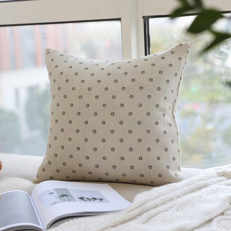 Cojín / almohada decorativa Algodón japonés Cojín suave Cojín de cintura trasera Home Sofá Bolsa Coche sin núcleo