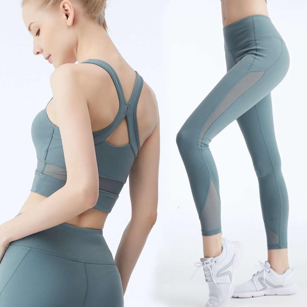women's new style spring summer cross back top quick drying tights women's two piece set tracksuit