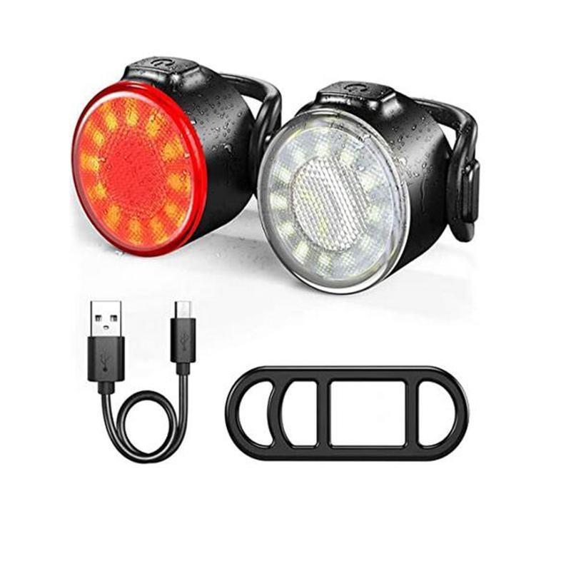 Vélo arrière USB USB Rechargeable Ensemble rechargeable XPE vélo avant feux arrière LED Vélo Lampe d'équitation étanche Lanterne à vélo