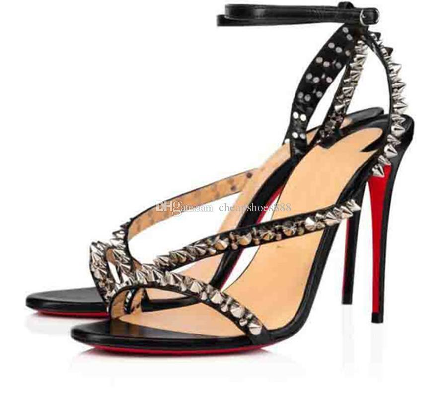 أنيقة السيدات الصيف الأحمر أسفل عالية كعب صندل مافالدا يفلس مثير النساء باطن الصيف أحذية الكاحل مشبك