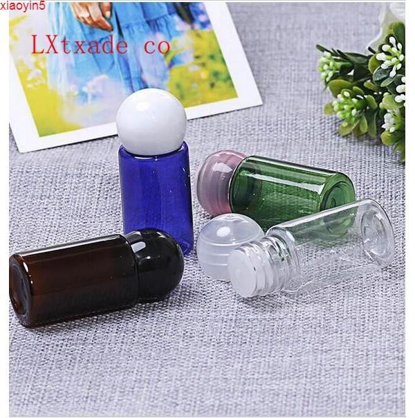 Высокая Quatityfree Доставка 10G / мл Многоцветный пластиковый шариковой крышкой бутылка шанпоо лосьон Cream косметическая эмульсия маленький образец пустой упаковки