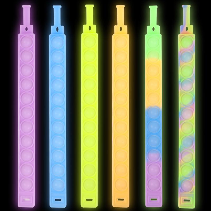 Dekompression Spielzeug Leuchtarmband Presse Blase Photosensitive Farbwechsel Puzzle SensoryToy Für Kinder Zappeln Vent Spielzeug