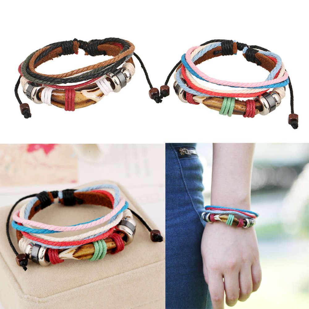 Chaoren Street Foto Personalisierte Herren- und Damenhand Seil gewebte Lederliebhaber Armband