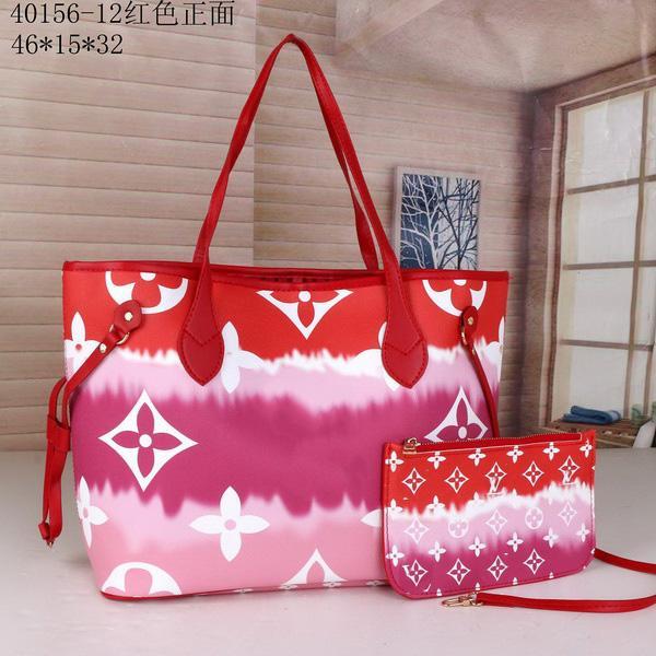 2021 Новые 2 шт. Классический набор сцепления кошелек для сцепления дамы цветок женский композитный составной из искусственной кожи дизайнерские сумки сумки сумки сумки с женщинами ijkn