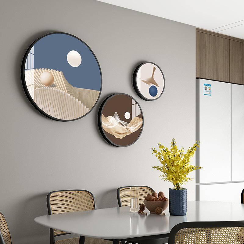 إطارات 10 أنماط جولة الديكور اللوحة مزيج نوم غرفة المعيشة شنقا الحلي إطار الصورة مجموعة الكريستال الخزف ثلاثي