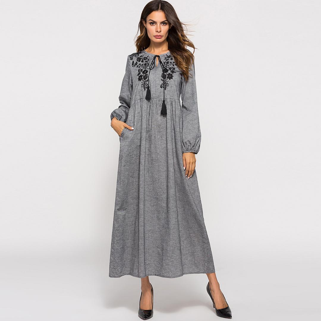 Kaftan Moroccan Kaftan ближневосточная абая мусульманский арабский исламский Дубай платье Longuetete вышивка повседневная одежда Дубай