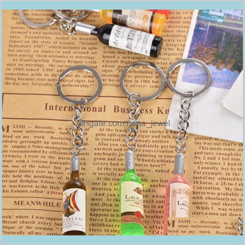 النبيذ زجاجة صغيرة النبيذ الهاتف الخليوي قلادة مفتاح سلسلة مفتاح حلقة البيرة زجاجة الإبداعية كوريا مجوهرات هدايا الرجال هدية الزفاف kws2n daeii