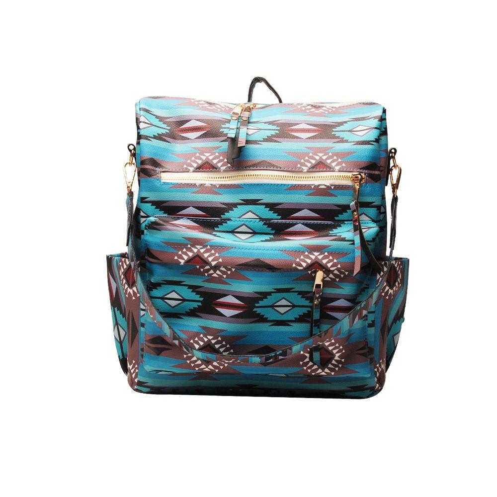 Astec PU mochila de couro faux de couro de couro mochilas de ombro girassol impressão menina saco de escola dom1404