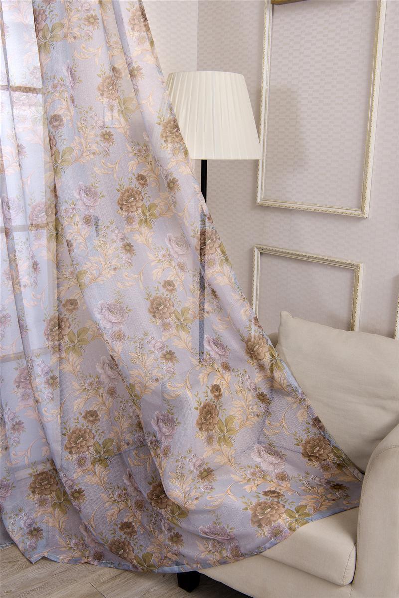 Simple ombrage Soie Black Silk Rideau Tissu Pétonie Pétonie Pastorale Salon Chambre à coucher Chambre à coucher Balcon Shade Rideau Screen