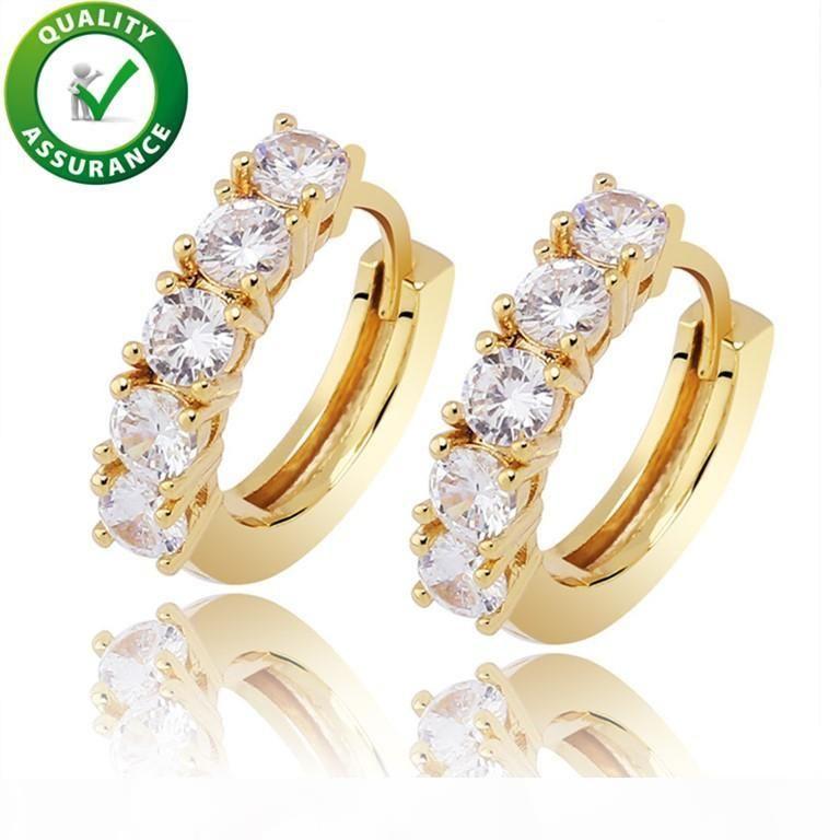 Men Women Earrings Luxury Designer Jewelry Hip Hop Gold Silver Fashion Earings Iced Out Diamond Earring orecchini firmati Bling Stud Rapper