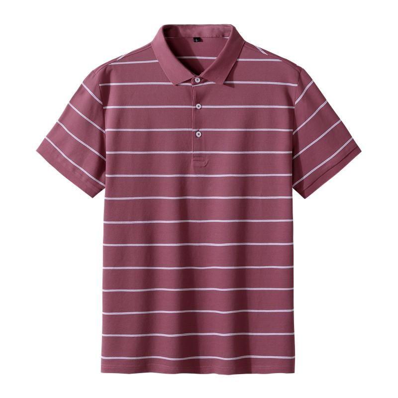 2021 남자 티셔츠 여름 남자 셔츠 비즈니스 캐주얼 통기성 흰색 줄무늬 짧은 소매 셔츠 순수한 면화 작업 옷
