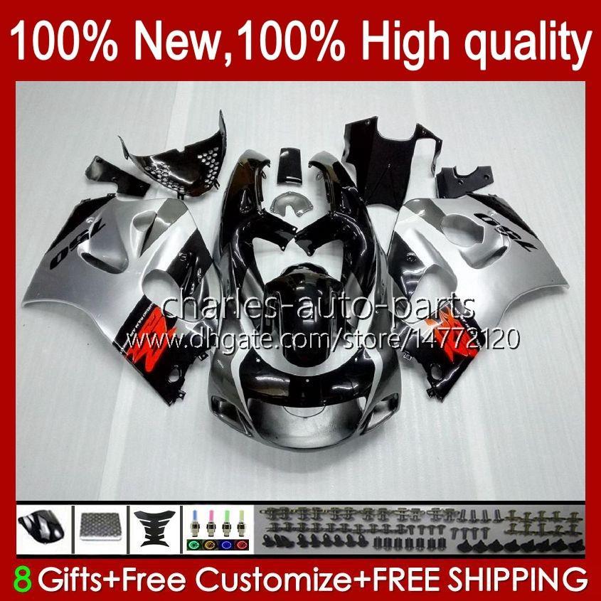Carrosserie Kit voor Suzuki Srad GSXR 600CC 750CC 750 600 CC 96-00 Body 22NO.19 GSXR-750 GSXR600 1996 1997 1998 1999 2000 GSXR750 GSX-R600 96 97 98 99 00 Fairing Silvery Gray