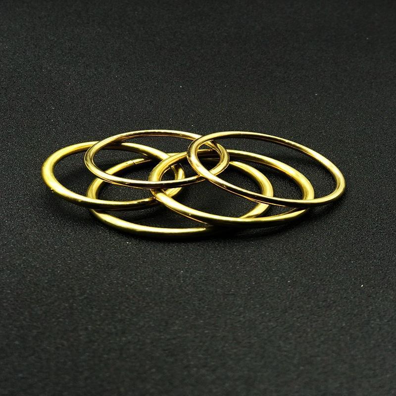 Massive Messing Split Ringe One Loop Schlüsselanhänger 32-45mm Beutel Haken Anschluss Keychain Tasten Halter DIY Leder Handwerk Hardware 108 W2