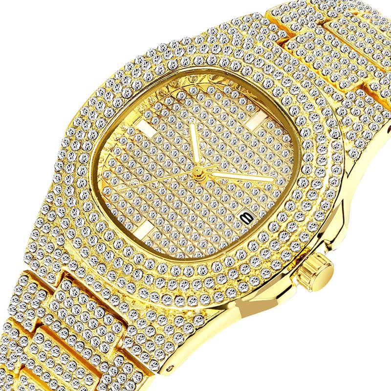 2021 مونتر الرجال النساء أزياء ووتش تصميم الكلاسيكية الماس ووتش الجليد خارج الساعات الفولاذ المقاوم للصدأ كوارتز حركة التسلق ساعة اليد