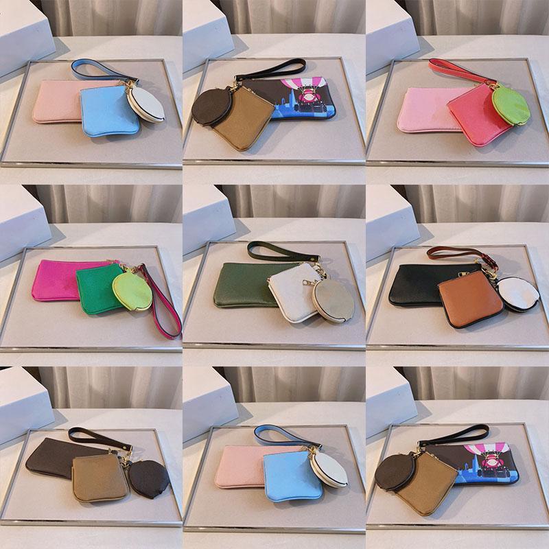 2121 العلامة التجارية مصمم صفر محفظة المرأة الأزياء الفاخرة حقيبة مفتاح متعدد الوظائف مع أكياس صغيرة الحجم 23 * 12 سنتيمتر 13 * 12 سنتيمتر 10 * 10 سنتيمتر
