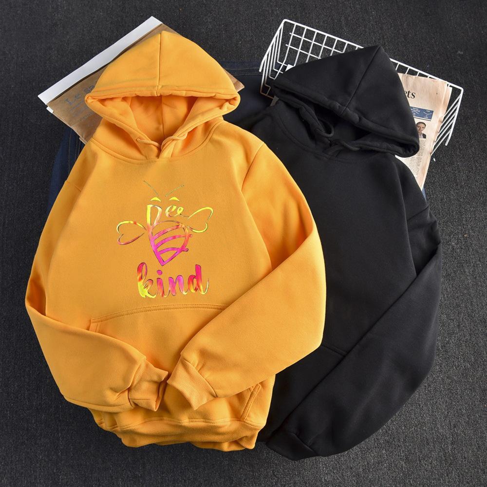 2021 Yeni Sonbahar Kadın Hoodies Moda Kapüşonlu Spor Tişörtü Boy Harfleri Baskı Cep Sıcak Kadın Kış Soğuk Giyim IGKB Tops