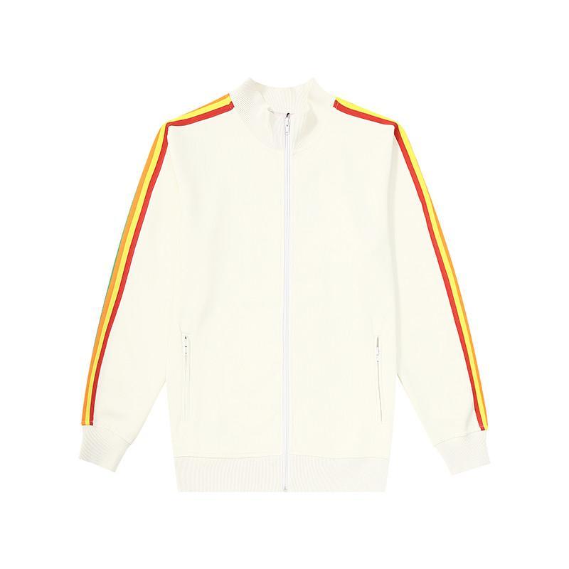 Femmes Classic Track Jacket Polyester Designer Hommes Élastiquée Lettre de ceinture Lettre imprimée Stripes à manches longues manches longues
