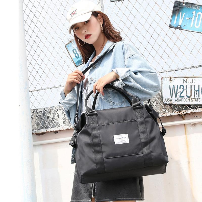 Duffel Bags Fashion Women Letters Print Messenger Bag Large Handbag Travel Luggage Casual Ladies Crossbody