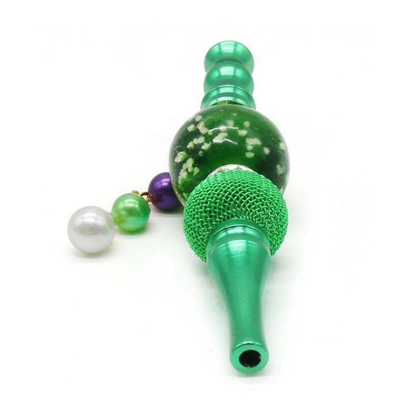 Tuyaux de fumée lueur dans des perles suspendues sombres Porte-cigarettes de cigarette en métal portable en métal portable en métal 181 S2