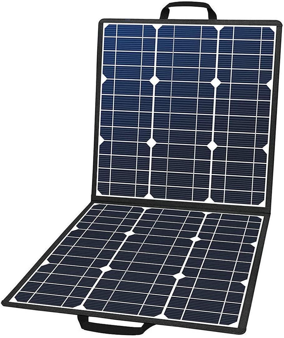 50W 18V 휴대용 태양 전지 패널, 휴대용 발전기, 스마트 폰, 타와 호환 가능한 5V USB 18V DC 출력 플래시 피쉬 접이식 태양열 충전기