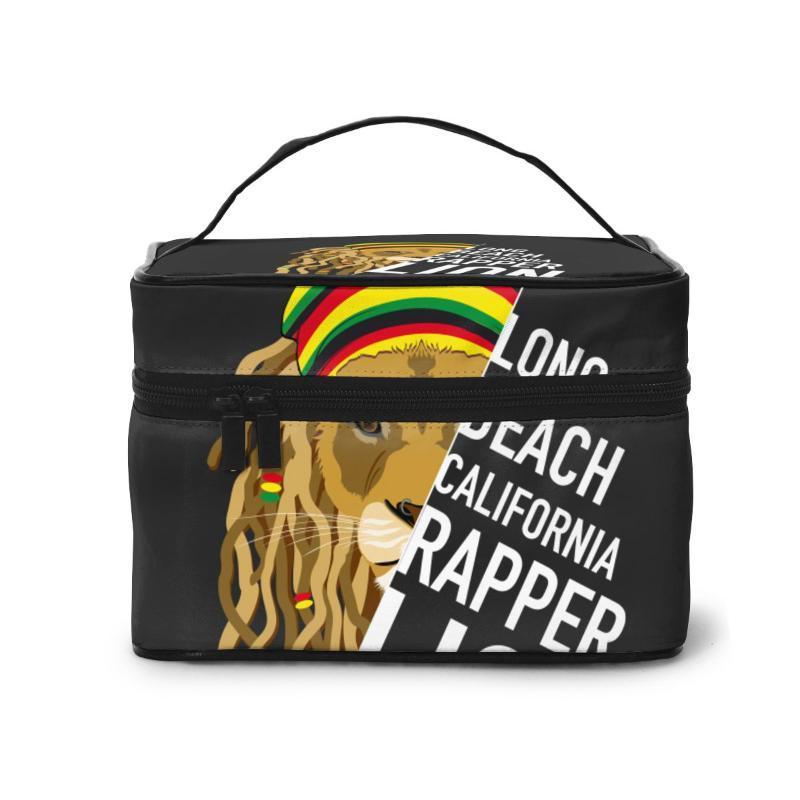 Многофункциональные путешествия косметические сумки без необходимости женщин Длинные пляжные калифорния рэпер льва макияж сумок составляют чехлы BGAUR