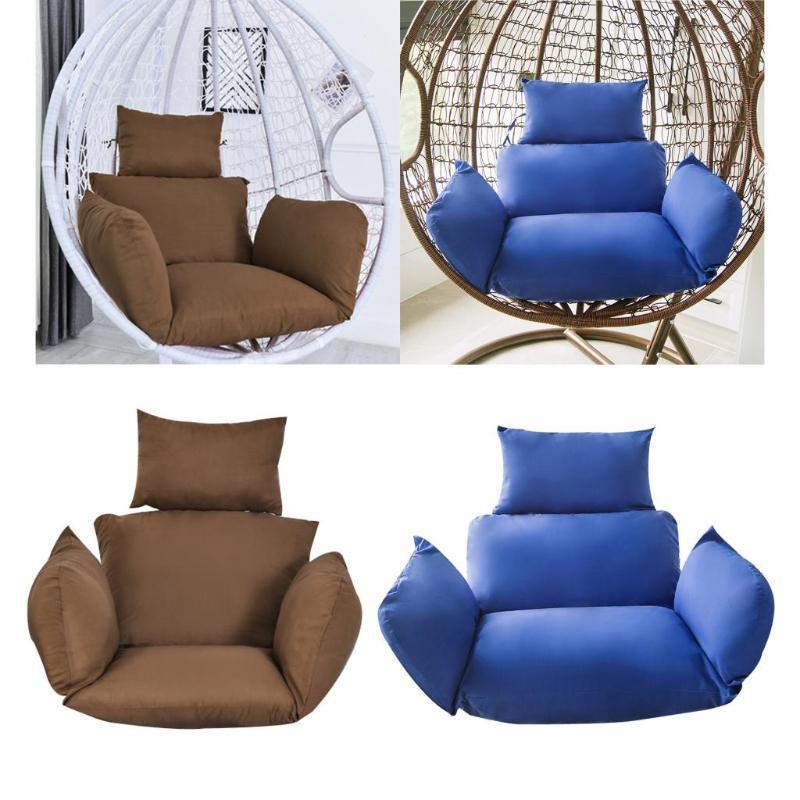 Swing appeso uovo in rattan sedia esterni giardino patio cuscini da asta amaca