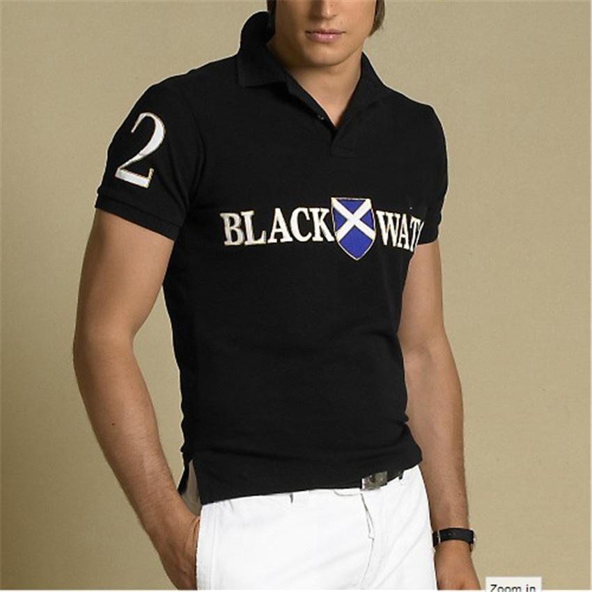 Yüksek Kaliteli Klasik At Yarışı Tasarımcısı Erkek Polo # 8010 Kapalı Lüks Kısa Kollu Beyaz Yaz RL Rahat Moda Nakış Yaka T-shirt