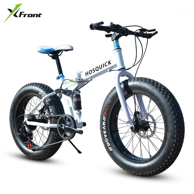 Nueva marca 4.0 Ancho Neumático de grasa cuesta abajo Playa de montaña Bicicleta de nieve Deporte al aire libre 20/26 pulgadas 27 Bicicleta plegable de velocidad
