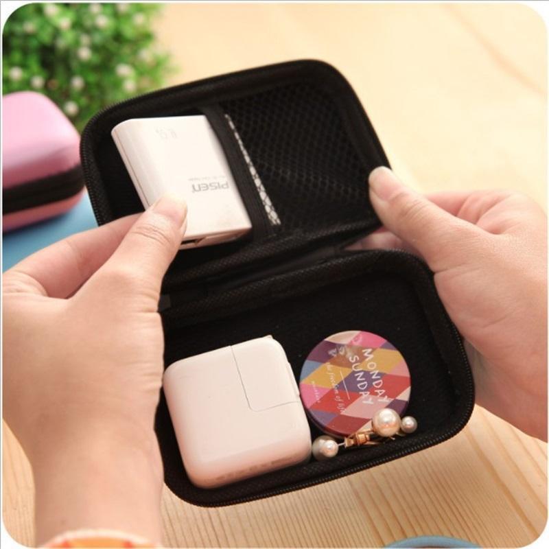 Data Cable Szipper Сумки Цифровая сумка для хранения Мобильный телефон Зарядное устройство Организатор Наушники Пакет Чехол Солнечные Сумки Двухместный Сумка 5 Цвет 117 V2
