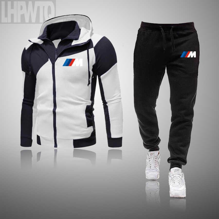 Outono inverno homens sets marca sportswear tracksuits 2 peças conjuntos de roupas masculinas hoodies + calças conjuntos macho streetswear casaco casaco 201012