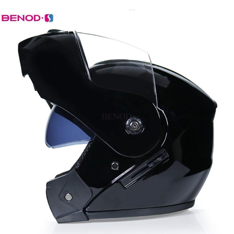 Hombre Casco Motocicleta Cara Completa Casco Motocross Modular Lente Dual Casco Moto Cross Cross Capacete Motocross S M L XL