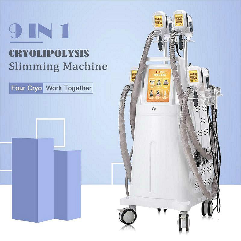 2021 Professional Cryolipolysis Machine Cryotherapy Fat Freezing Cavitation RF Lipo Laser Fat Reduction Slimming Machine