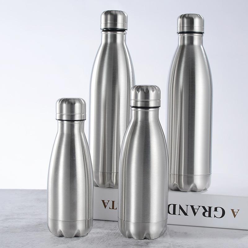 350 500 750 1000ml 스테인레스 스틸 워터 병 휴대용 BPA 무료 물 마시는 병 체육관 스포츠 사이클링 어린이 학교 선물