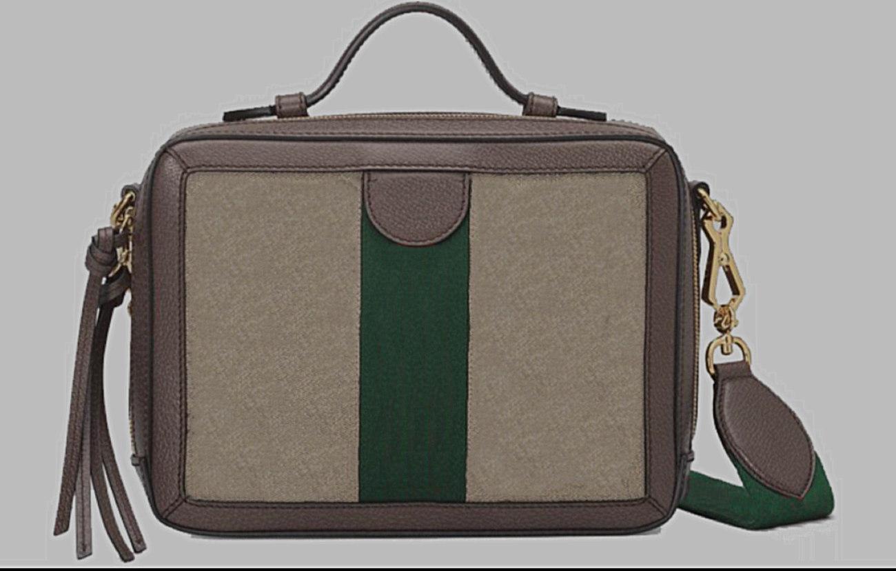 Luxusdesigner Damen Handtasche 2020 Neue G-Serie One-Umhängetasche Retro Kleine Square Tasche Kreuzkörpertasche Braunes Leder Leinwandgewebe 25 cm